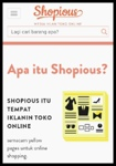 Toko Online Shopious.Com Siap Bantu Anda.